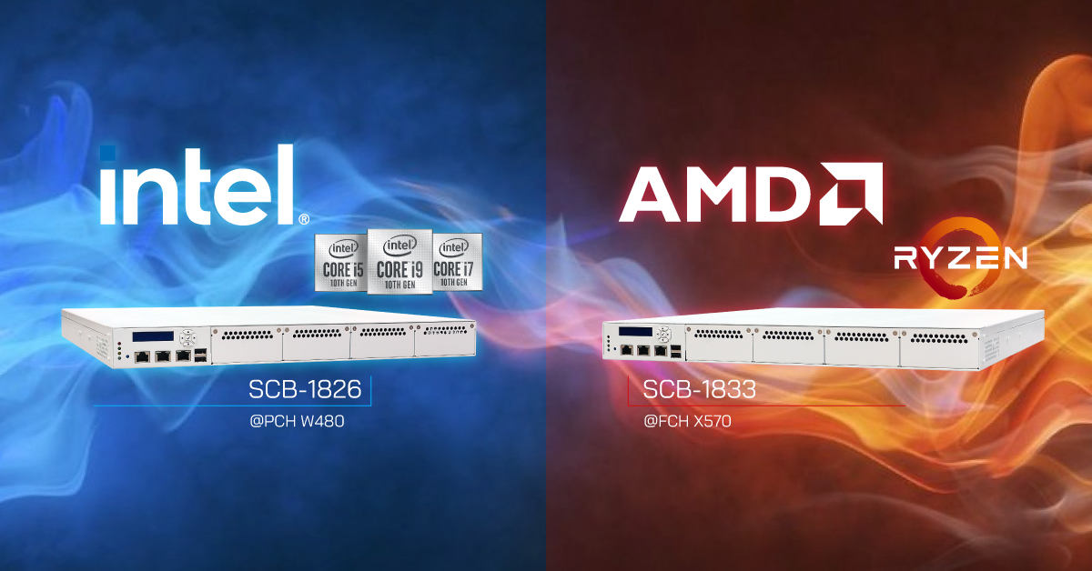 network appliance intel core i & AMD ryzen
