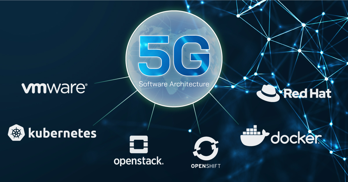 5g Software architecture, vmware, kubernetes, openstack, openshife, docker, redhat